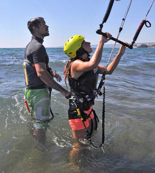 lezione kitesurf con istruttore